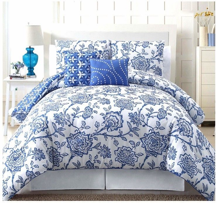 jordin 5 piece king or queen comforter set floral orange red blue or brown home decor quilt. Black Bedroom Furniture Sets. Home Design Ideas