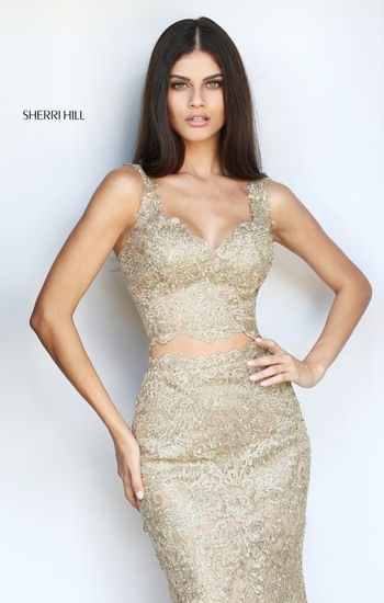 fc8f541cd6a4 ... prom dress of your dreams! Gold Sherri Hill Collection 2017 #51192