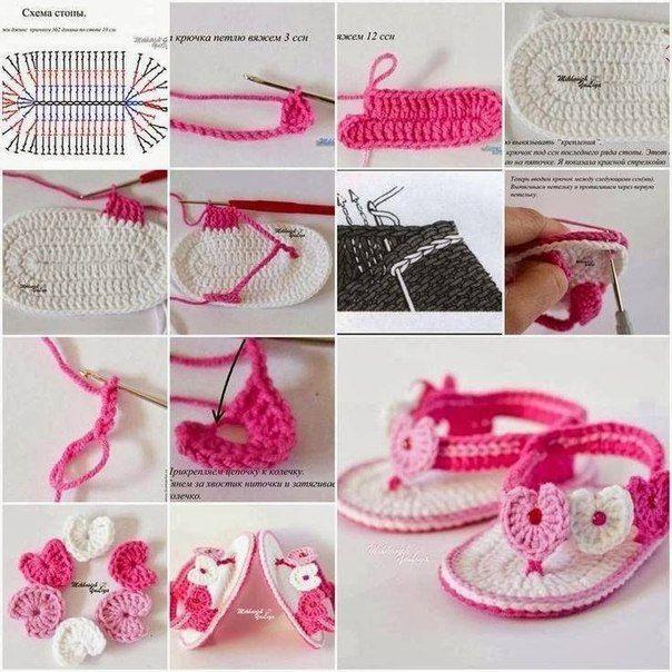 Delicadezas en crochet Gabriela: Patrones crochet bebé | zapatos ...
