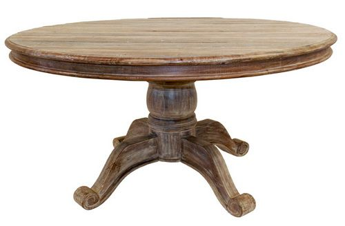 60 Round Dining Table Pedestal Reclaimed Wood Round Dining Table