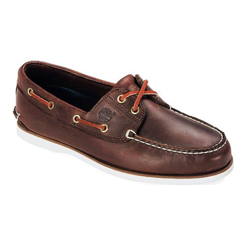 c51f025560008 Men's Timberland Classic Boat 2-Eye - Dark Brown Smooth Moc Toe Shoes