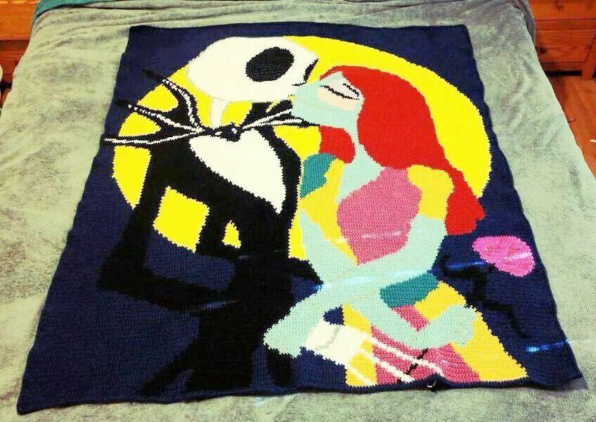 Nightmare Before Christmas Crochet Blanket.Nightmare Before Christmas Crochet Blanket Facebook Com