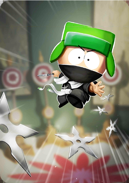 The Master Ninjew Card In Phone Destroyer South Park South Park Game Kyle South Park