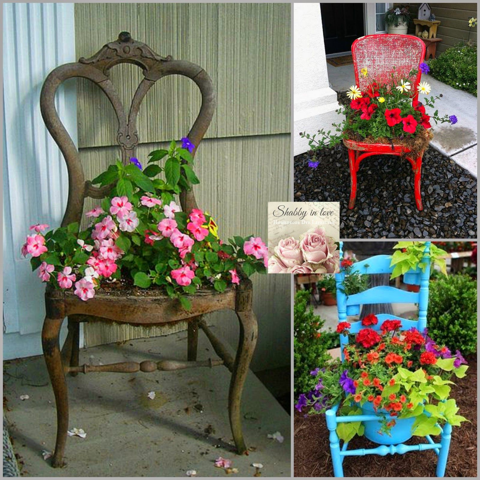 Shabby in love: Lovely garden Container ideas   Hanging Baskets ...