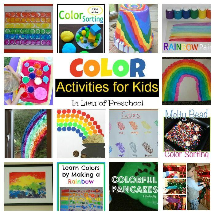 color activities for kids in lieu of preschool - Colour Activities For Children