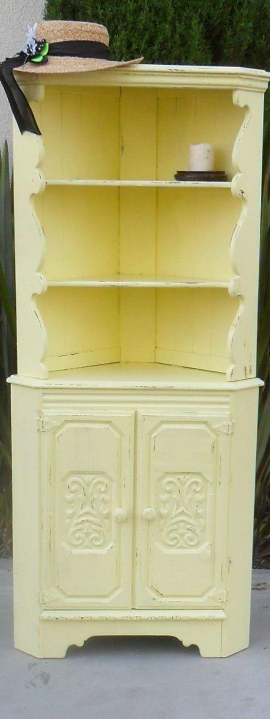 Vintage Corner Cabinet Vintage Yellow Corner Cabinet Vintage Giallo Depoca E Giallo