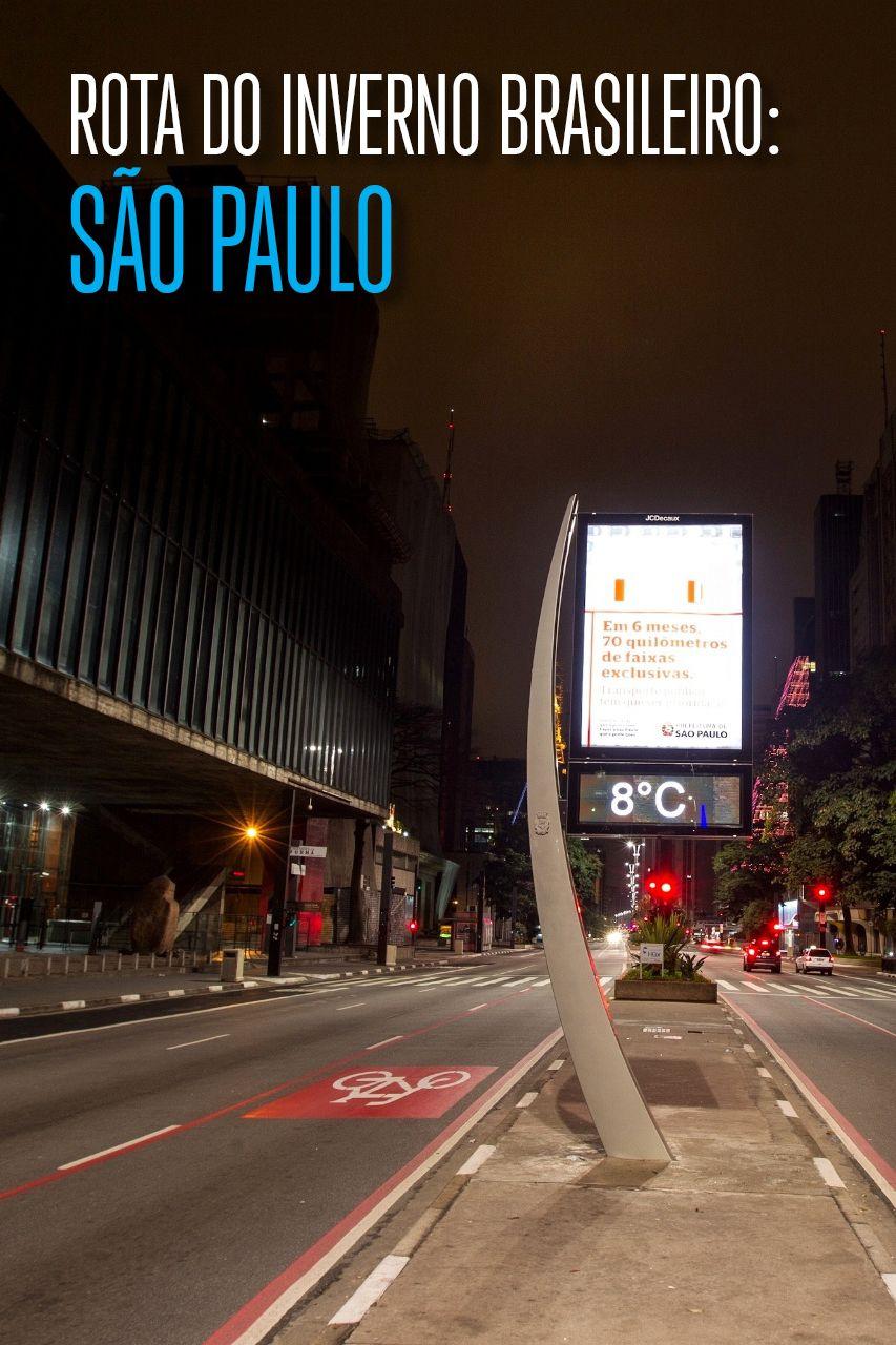 Selecionamos os destinos mais visitados do Brasil e buscamos saber como eles são no inverno. O destino de viagem desta vez é São Paulo!