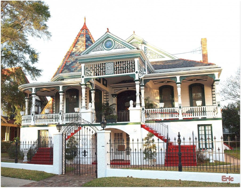 Love The Red Stairs New Orleans Architecture New Orleans Garden District New Orleans Homes