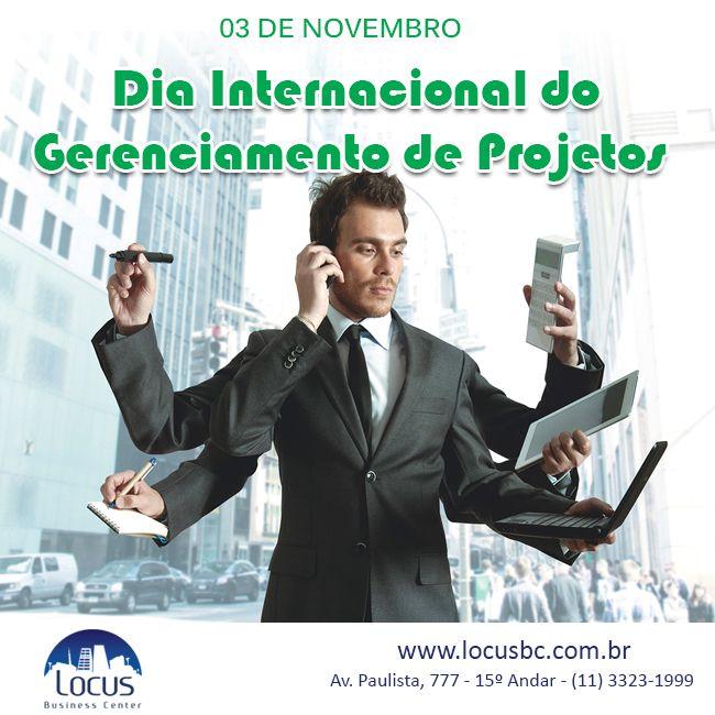03 de novembro: Dia Internacional do Gerenciamento de Projetos #gp