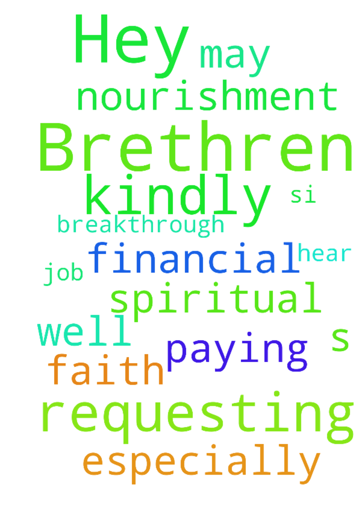 Hey Brethren s.I am kindly requesting you pray for - Hey Brethren s.I am kindly requesting you pray for me to get a well paying job, for financial breakthrough and spiritual nourishment especially faith. May GOD hear this prayer in Jesus name Amen Posted at: https://prayerrequest.com/t/bTH #pray #prayer #request #prayerrequest