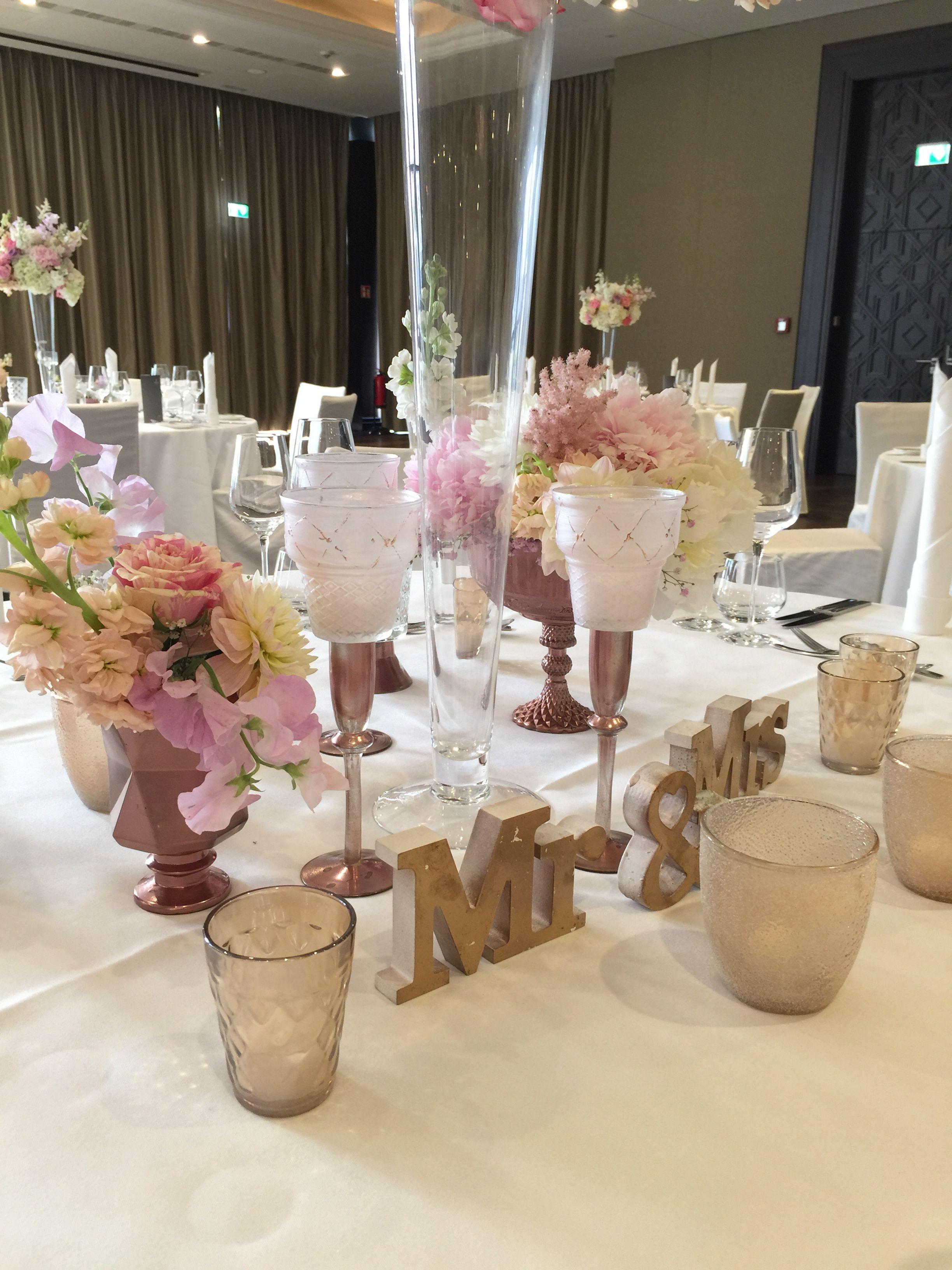 Hochzeitsdeko Brauttisch In Rose Gold Flairville Pinterest
