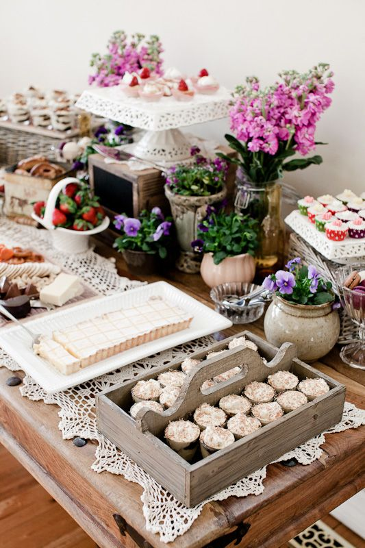 Country Style Baby Shower | Baby shower food, Country chic baby shower, Country baby shower
