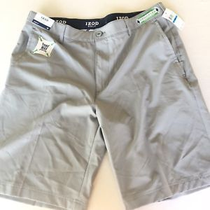 eb4a9e6f0eda IZOD Mens Golf Swing Flex Slim Fit Shorts Cinder Block 36 NEW 676108593388  | eBay