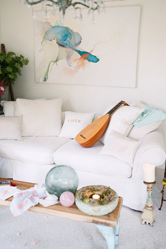 tuesday's girl: aquarelle maison.