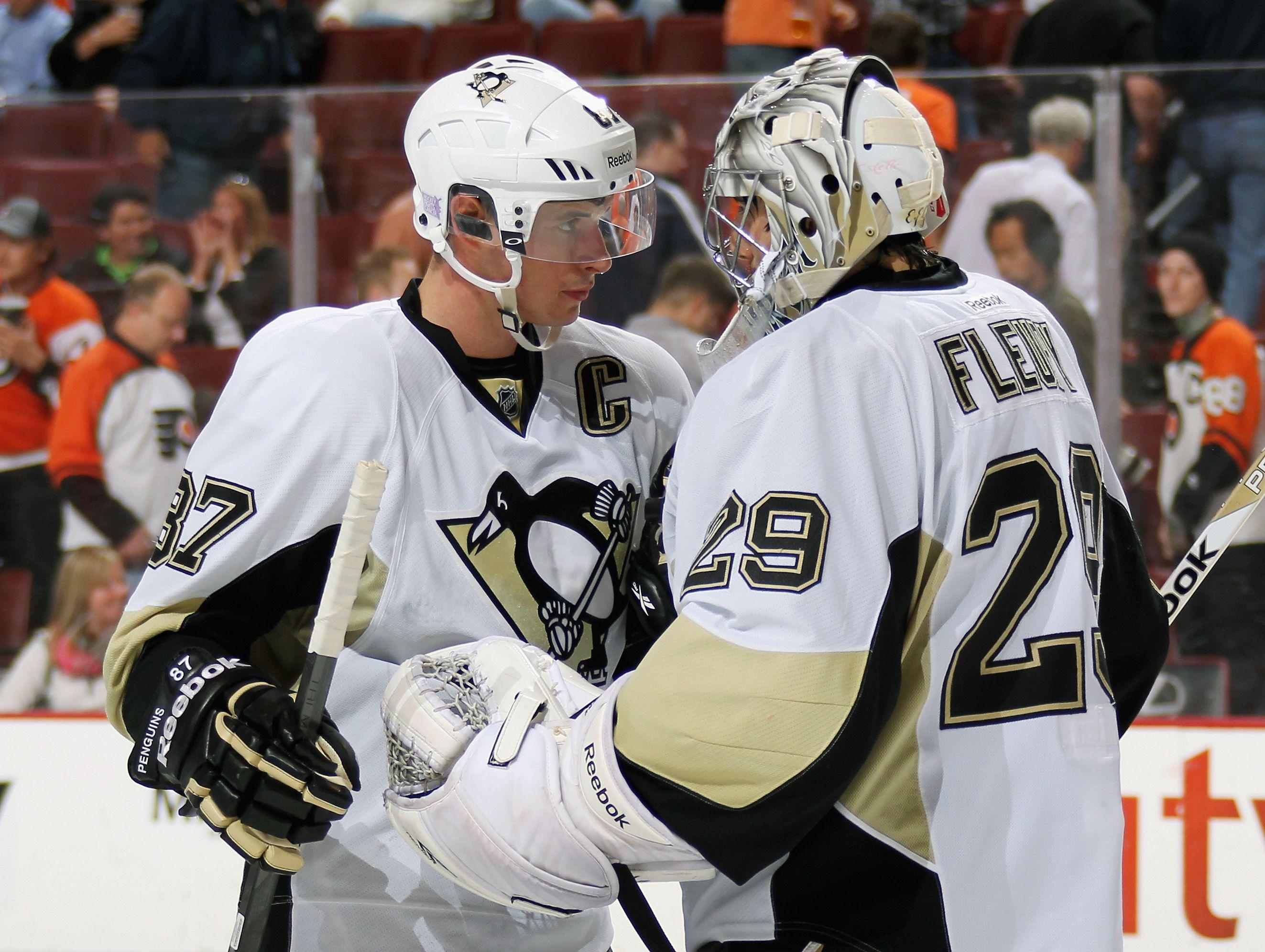 Sidney Crosby Marc Andre Fleury Penguins Pittsburgh Pittsburgh Penguins Penguins Hockey Penguins