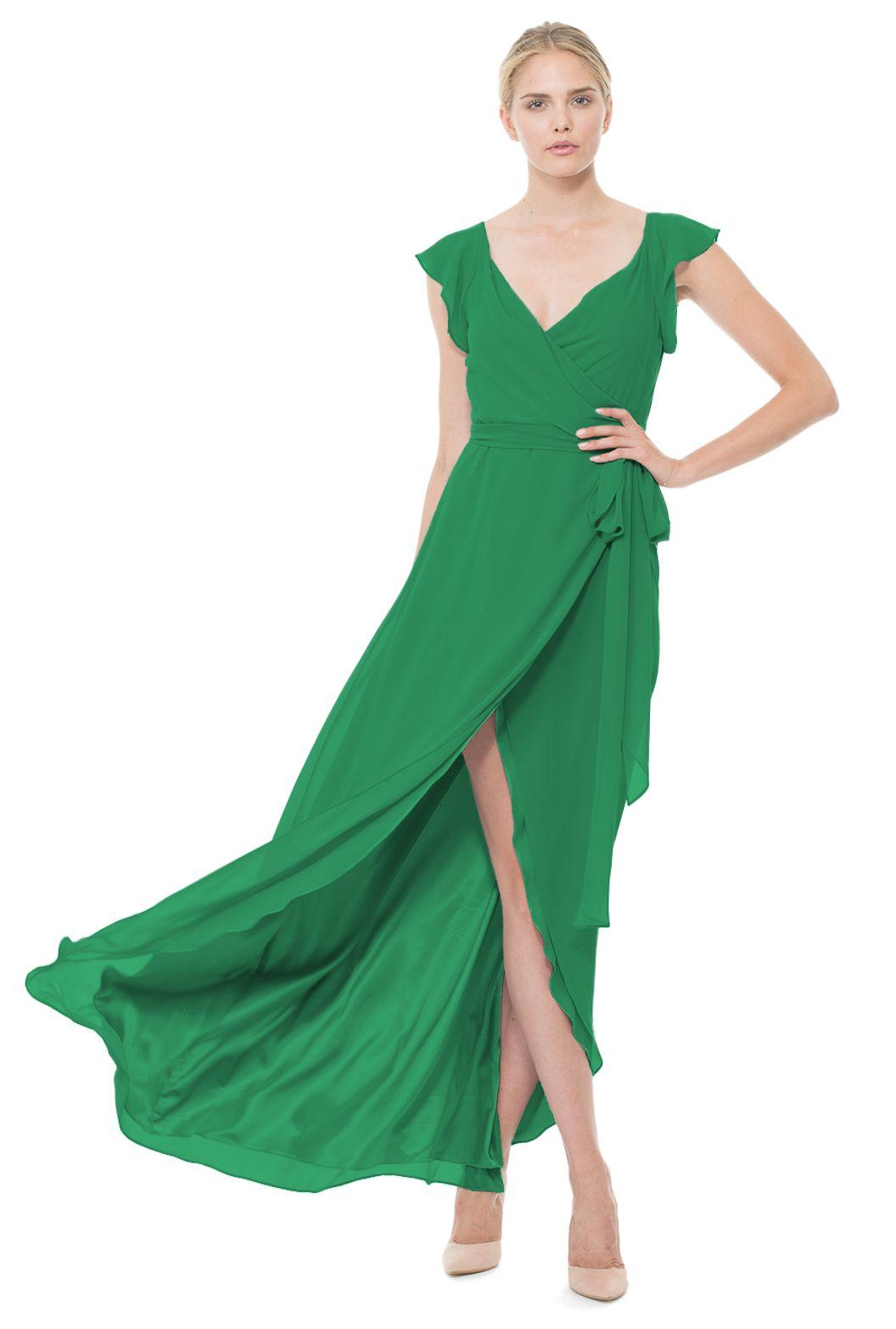 Green dress for wedding  Joanna August Dorian Long Bridesmaid Dress  Weddington Way