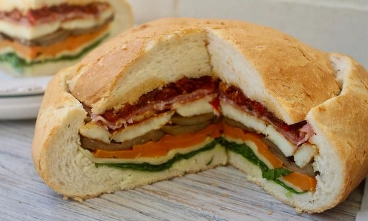 Cob loaf sandwich