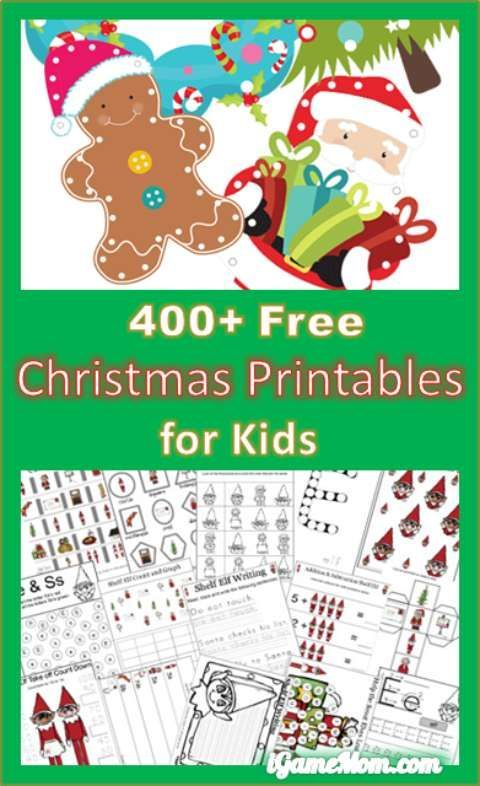 400 Free Christmas Learning Printable Activities For Kids Free