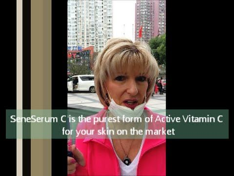 SeneGence SeneSerum C goes to China...protect your skin from Free Radicals attacking your skin....Active Vitamin C for the skin will rebuild the collagen and repair it too! Stop the Urbanization of your skin!