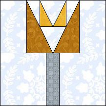 Block of the Day for November 11, 2013 - Planted Tulip