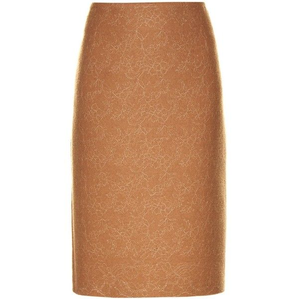 Max Mara Zanzara skirt (€445) ❤ liked on Polyvore featuring skirts, camel, camel skirt, beige skirt and maxmara