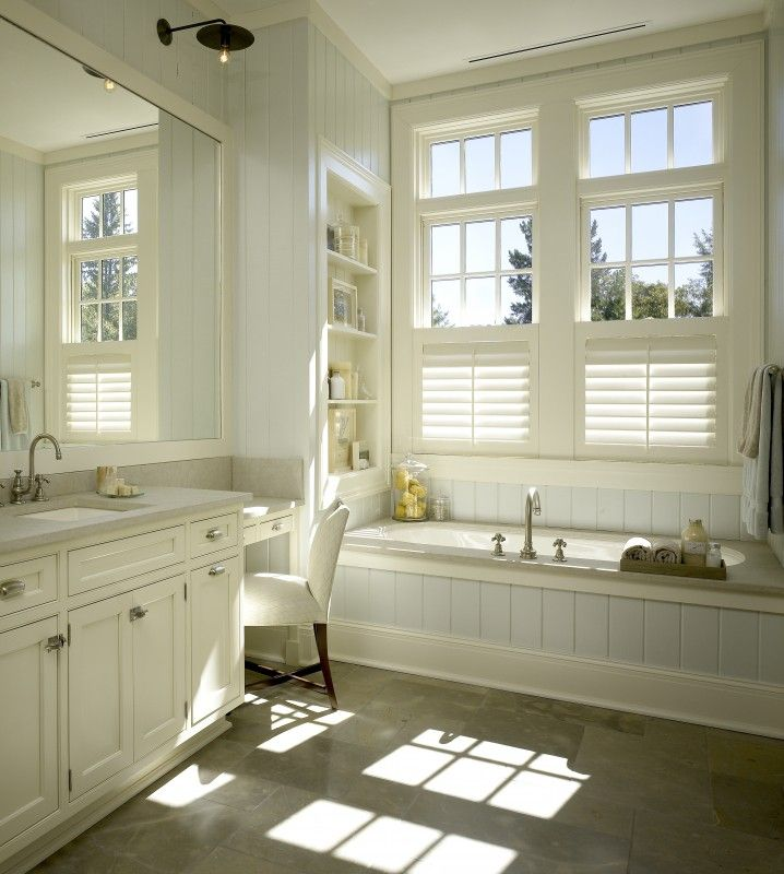 Window covering solution for window in front of bathtub