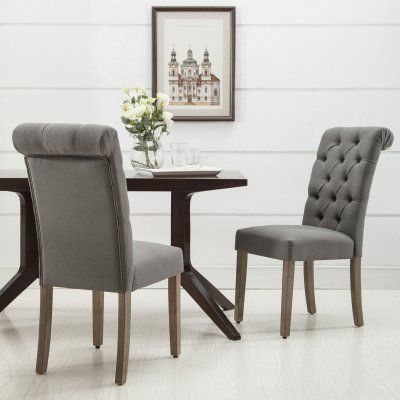 Best Christies Home Living Natalie Button Diamond Tufted Dining 400 x 300