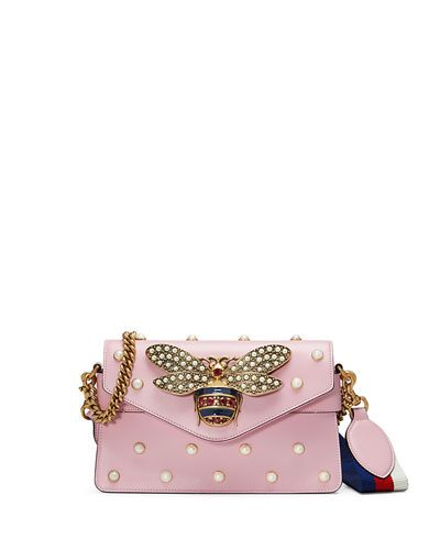 98efff45c93e Gucci Broadway Pearly Bee Shoulder Bag | Diva Accessories | Bags, Gucci  handbags, Leather handbags