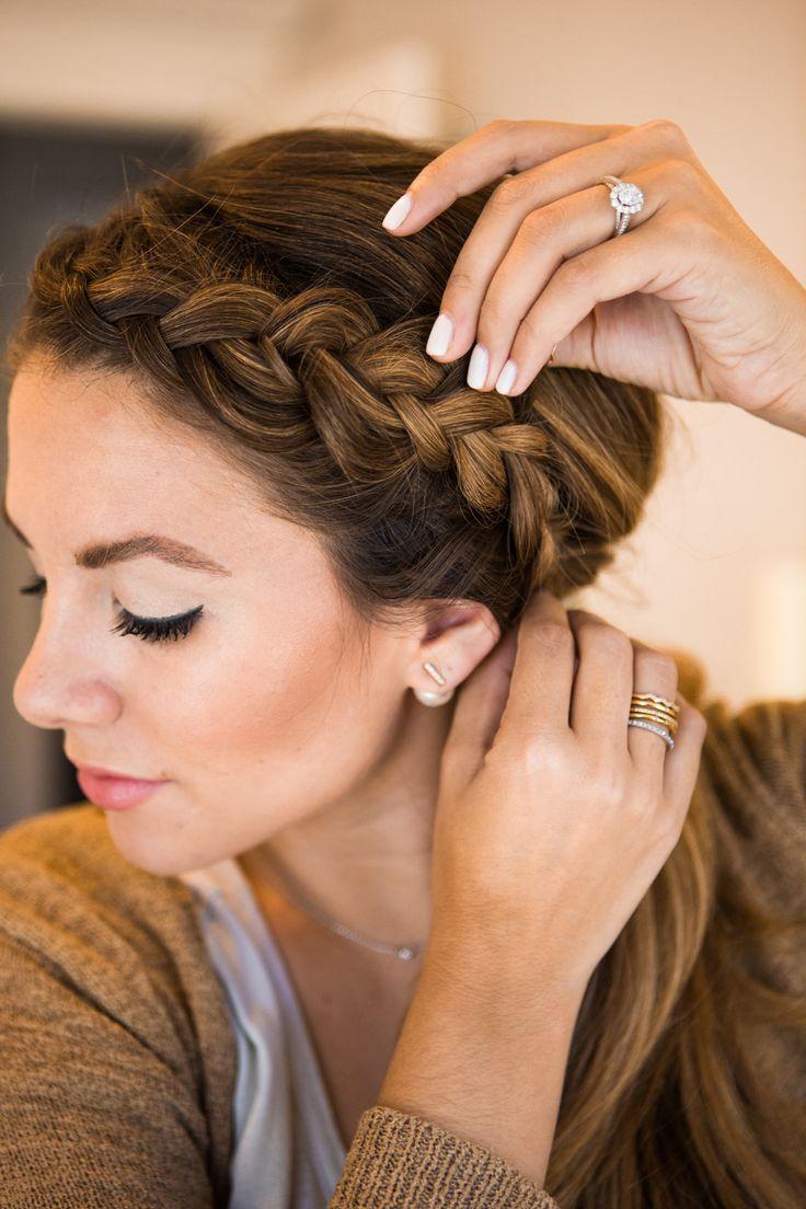 side braid into low side ponytail/bun   bridal team   side