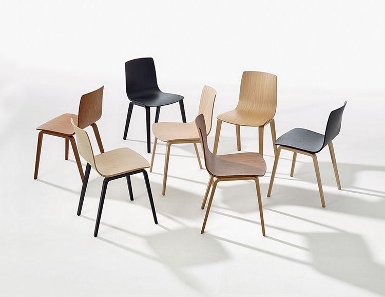 Sedie Arper Outlet.Chairs Aava 4 Wood Legs Aava Arper 2