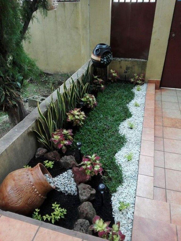 25+ Beautiful Small Rock Garden Landscaping Design Ideas #gardendesign #landscapedesign #landscapingideas #steingartenideen