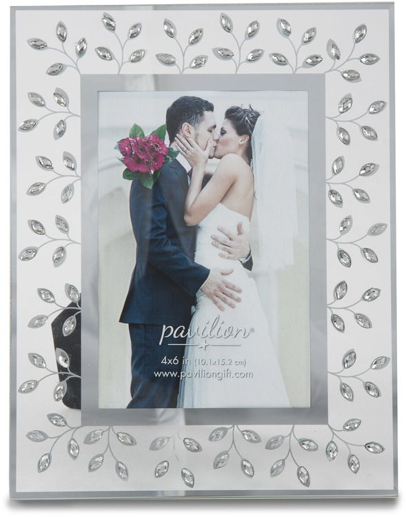 Glorious Occasions Crystal Gems And Mirror Wedding Picture Frames Gifts Wedding Picture Frames Perfect Wedding Gift
