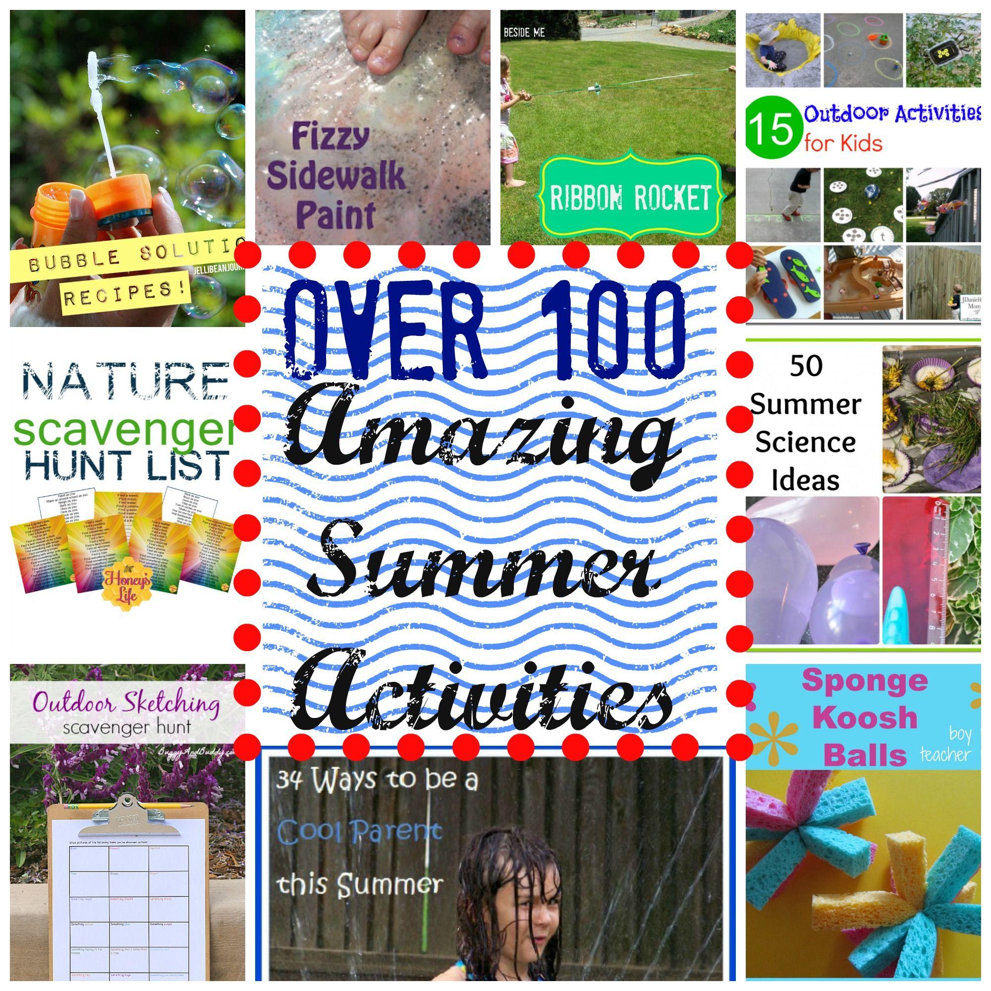 Over 100 Fun Outdoor Activities for Kids During Summer