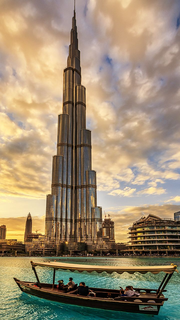 The Burj Khalifa Tower in Dubai is the tallest building in the world. Here's…