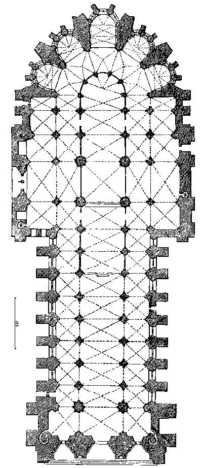 Rheims Reims Cathedral Plan Reims Cathedral Architecture Illustration Gothic Architecture