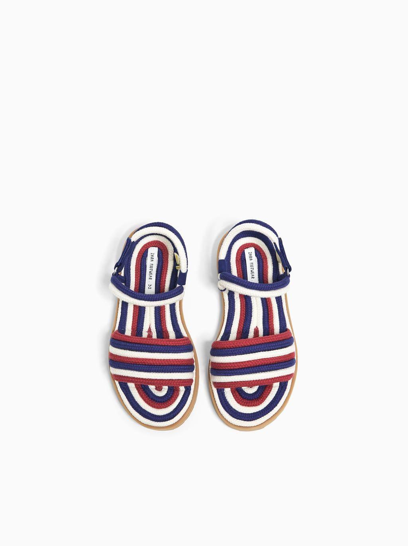 Sandaly Z Wielobarwnymi Sznurkowymi Paskami Sandaly Buty Dziewczynka 5 14 Lat Dzieci Zara Polska Zara Sandals Unisex