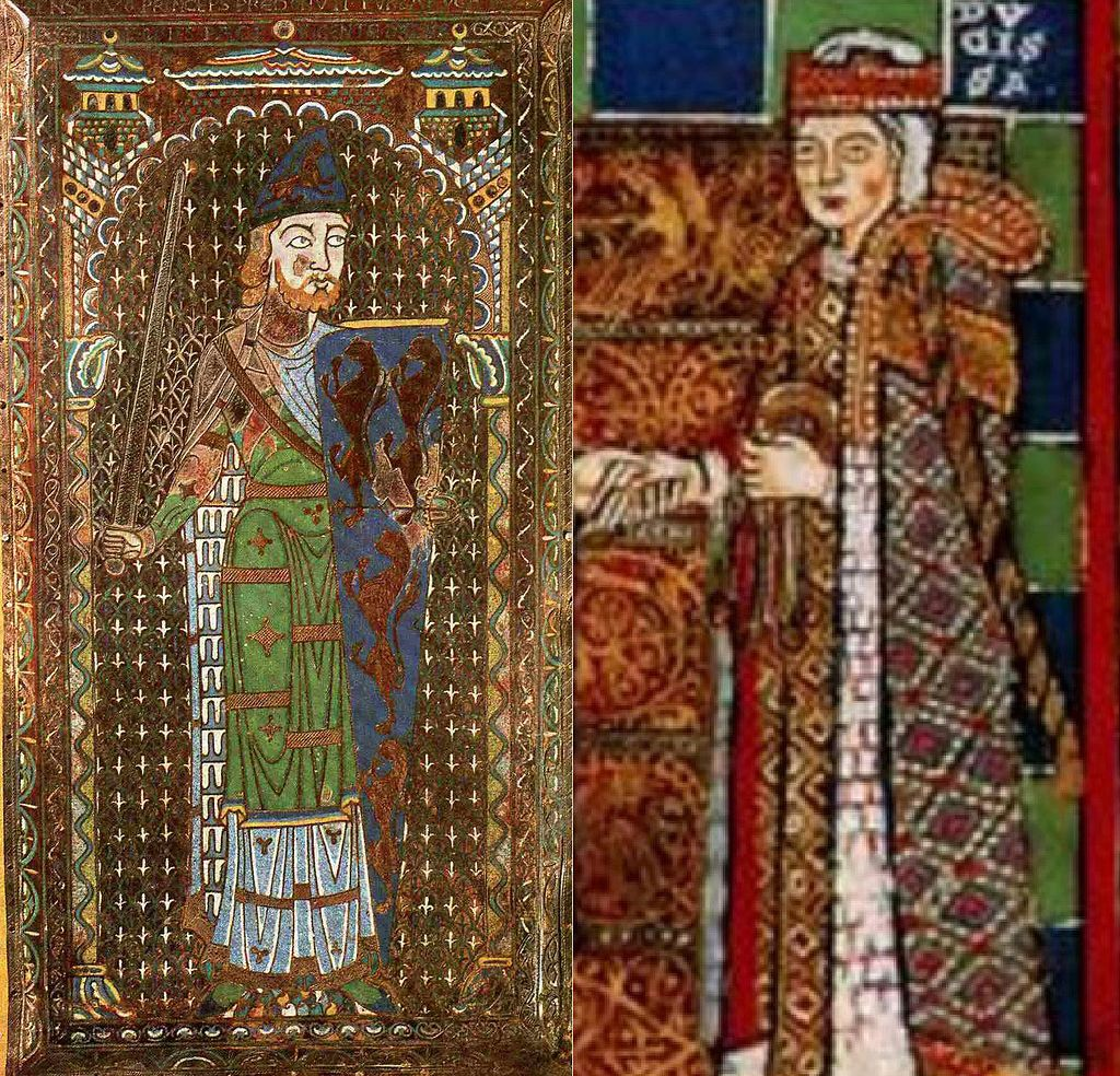 Contemporary depictions of Henry II's parents Geoffrey the Fair (l) and the Empress Matilda (r).. Henry was said by chroniclers to be good-looking, red-haired, freckled, with a large head; he had a short, stocky body and was bow-legged from riding  Often he was scruffily dressed  Not as reserved as his mother Matilda, nor as charming as his father Geoffrey, Henry was famous for his energy and drive and infamous for his piercing stare, bullying, temper and his sullen refusal to speak at all.