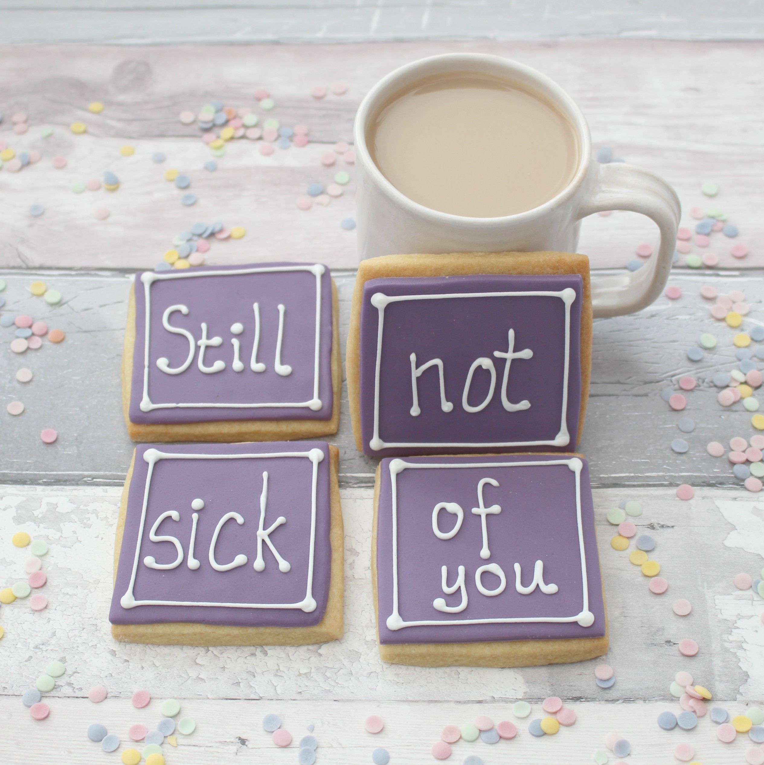 Funny anniversary gift for husband, birthday cookies for