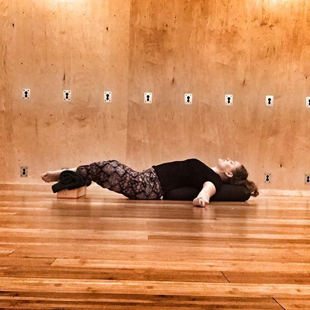 Yesterday S Tarasana Can Be Turned On Its Back Supta Tarasana Feet Together Knees Wide Heels Drawn Away From Your P Yoga Nyc Yoga For Kids Restorative Yoga