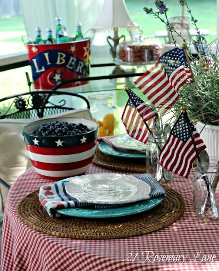 Try this July 4th Tablescape at your next patriotic party | Holidays ...