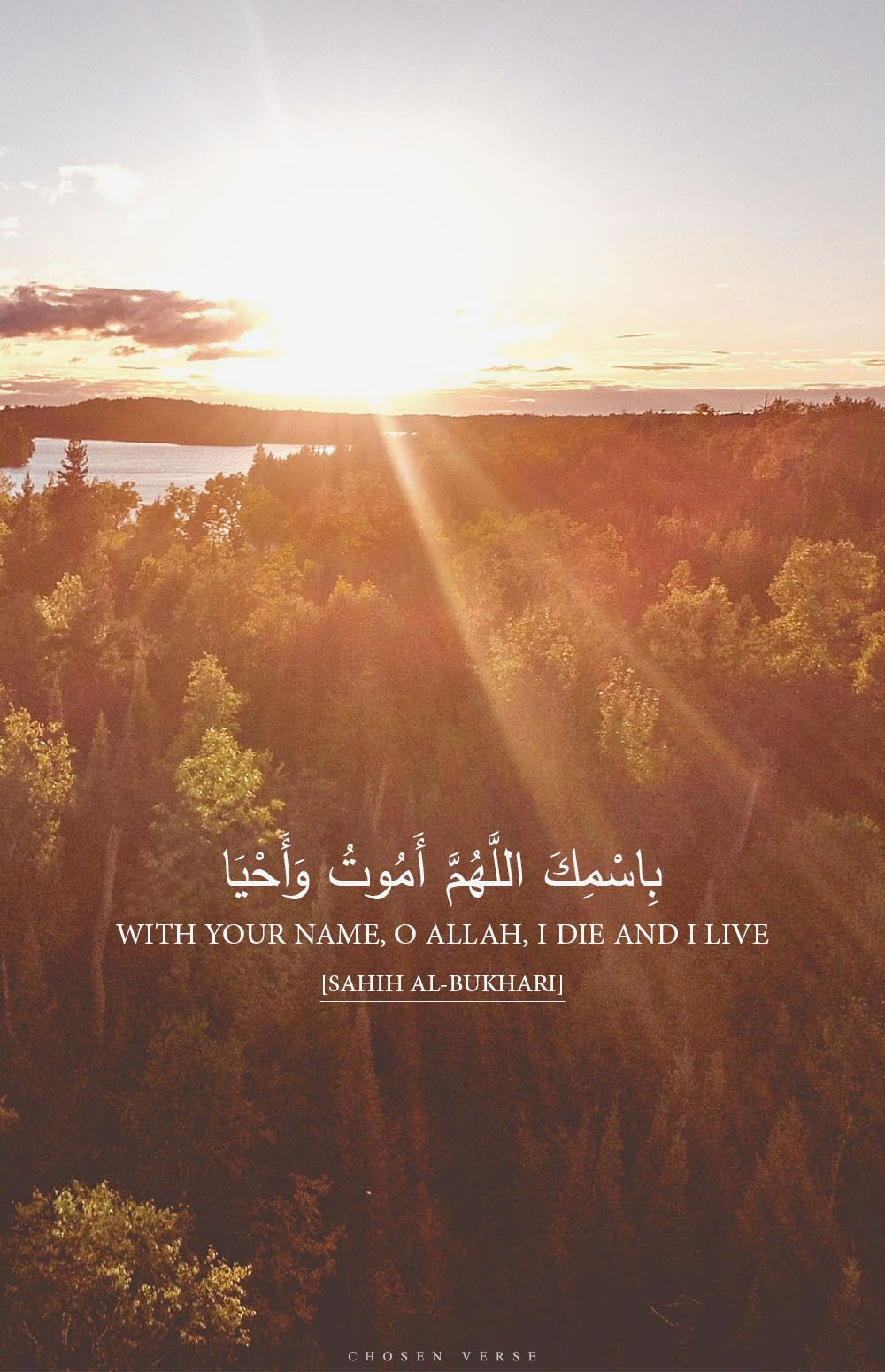 ع ن ح ذ ي ف ة ق ال ك ان الن ب ي صلى الله عليه وسلم إ ذ ا أ ر اد أ ن ي ن ام ق ال ب اس م ك الل Islamic Inspirational Quotes Quran Verses Ahadith