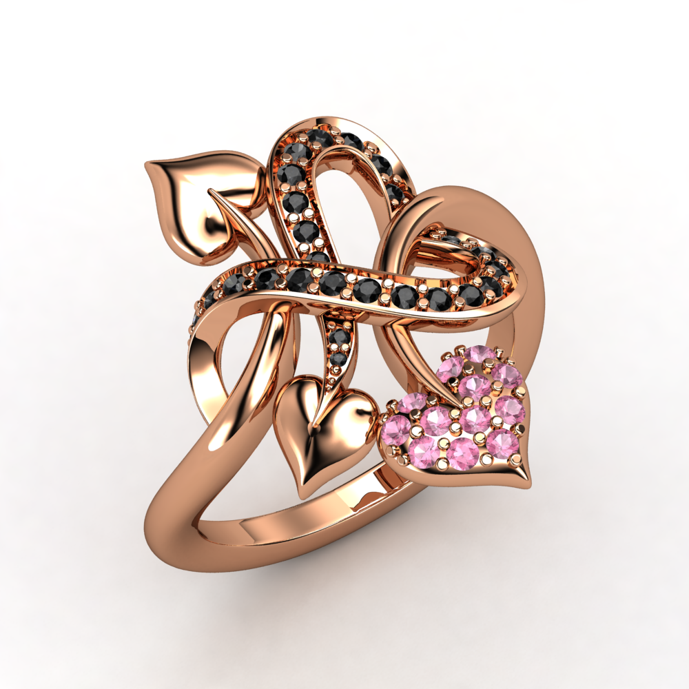 This bold, fashion-forward ring is reminiscent of a tattoo expressing your deepest, truest love.