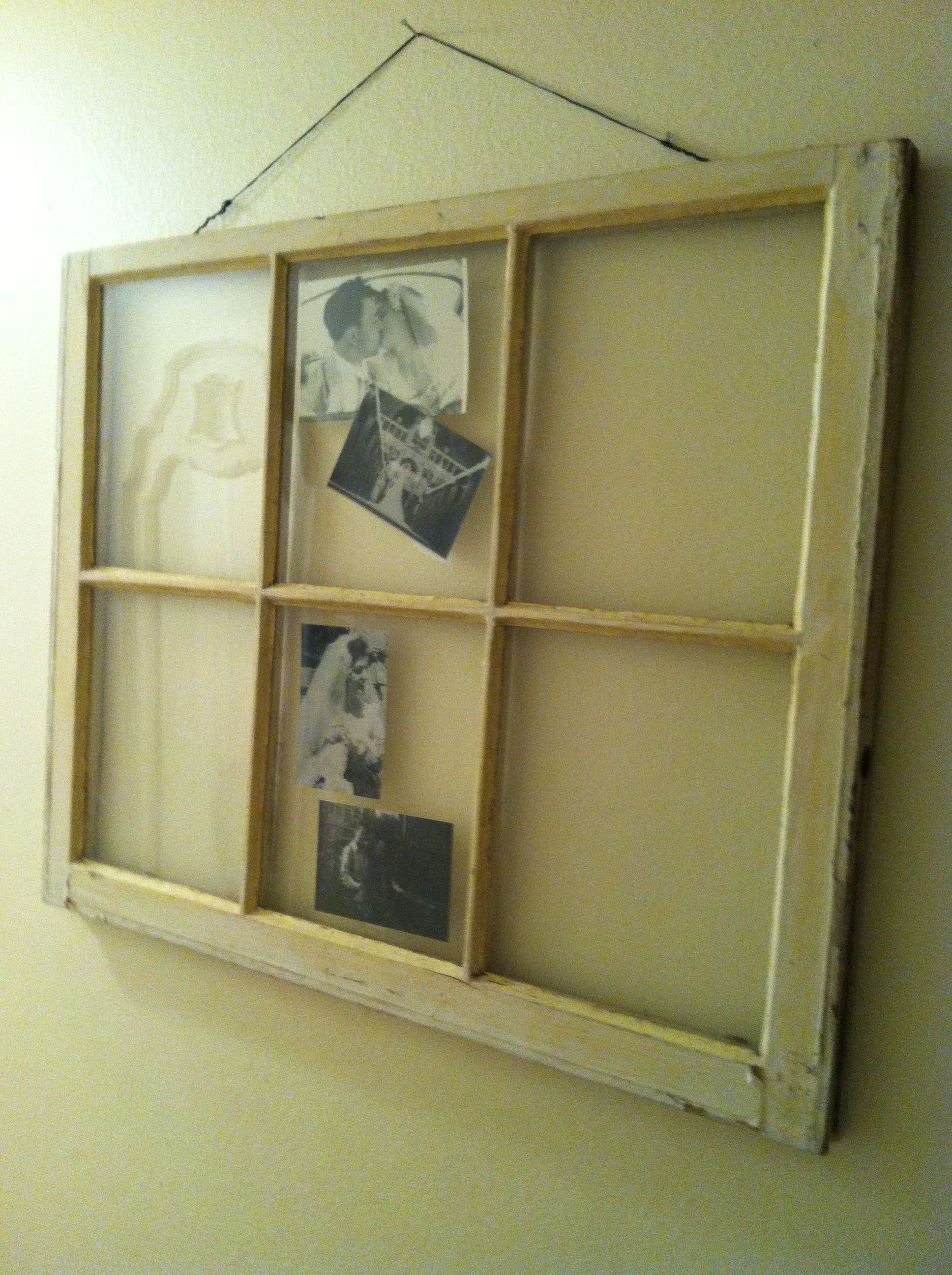 Vintage farm house picture frame photo display Picture
