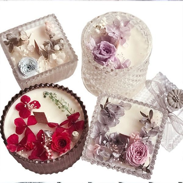 Preserved Flower Aromatherapy Candles from Apollo Box