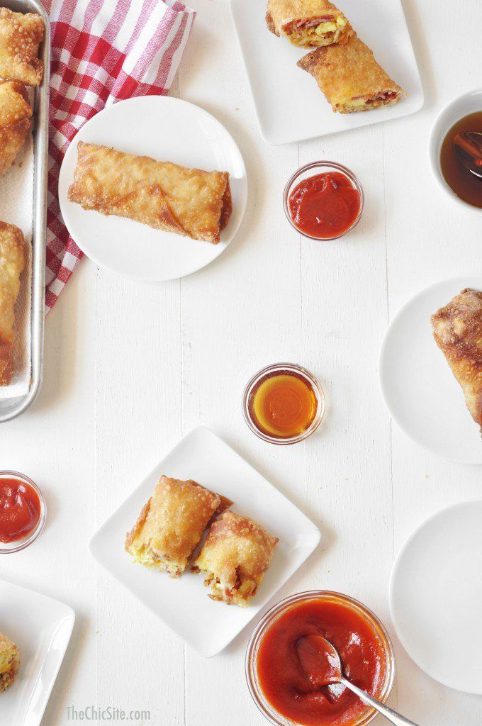 Pin for Later: 9 Ways to Change Up Your Kids' Scrambled Eggs Breakfast Egg Rolls Similar to a breakfast burrito, but with an Asian spin, these breakfast egg rolls pack a delicious egg roll shell with your kiddo's favorite eggs.