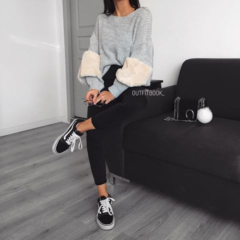 Grey and Black perfect casual look