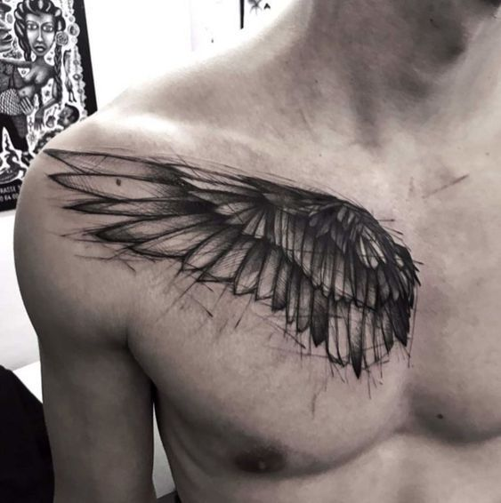 ▷▷ Tatuajes DE ALAS 【 ESPALDA - PECHO - MUÑECA - ÁNGELES 】