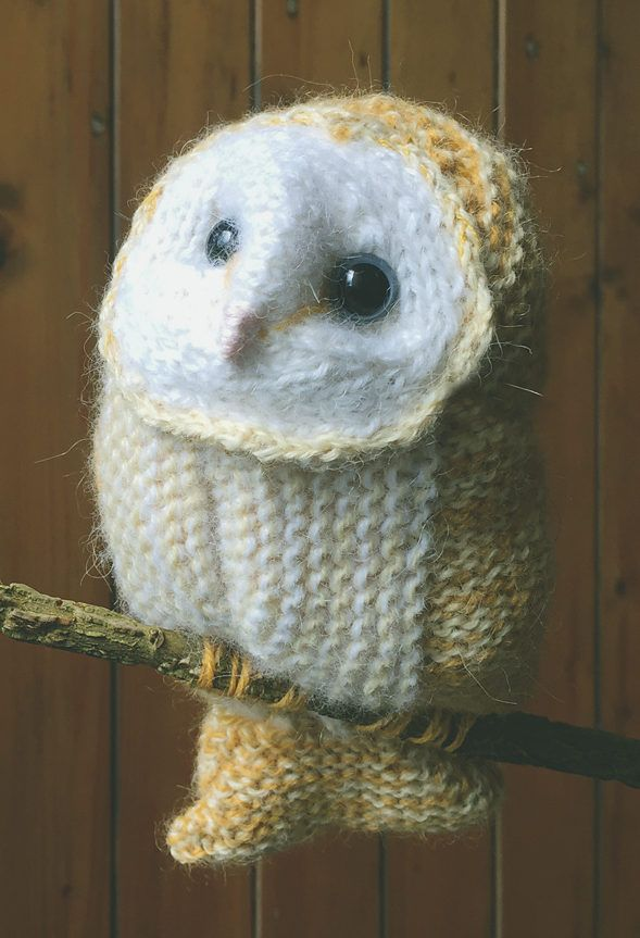 Free Knitting Pattern for Winter White Owl - Barn owl toy knit in ...