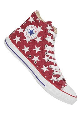 c863e98d16bb CONVERSE Chuck Taylor All Star Basic Star Hi Canvas jester red White   planetsports