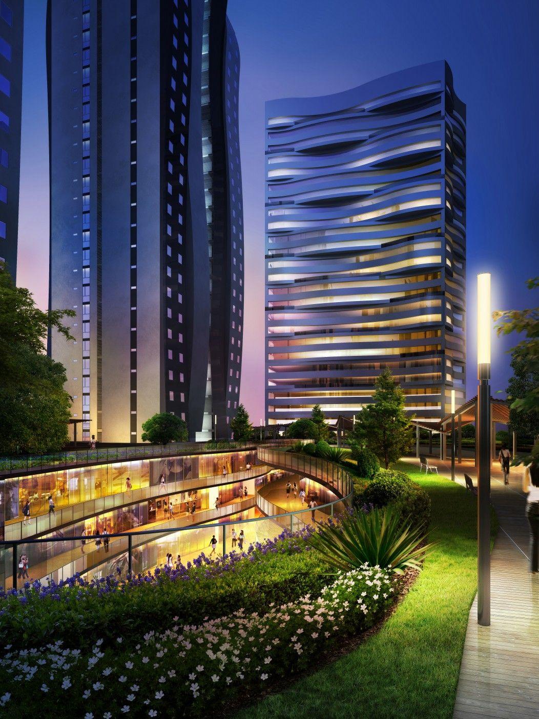 New Mixed Use Masterplan In Jiyuan China Towers